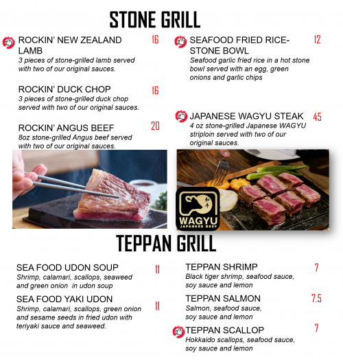 5 Stone and Teppan grill