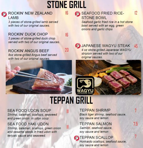 Stone Grill Teppan Grill